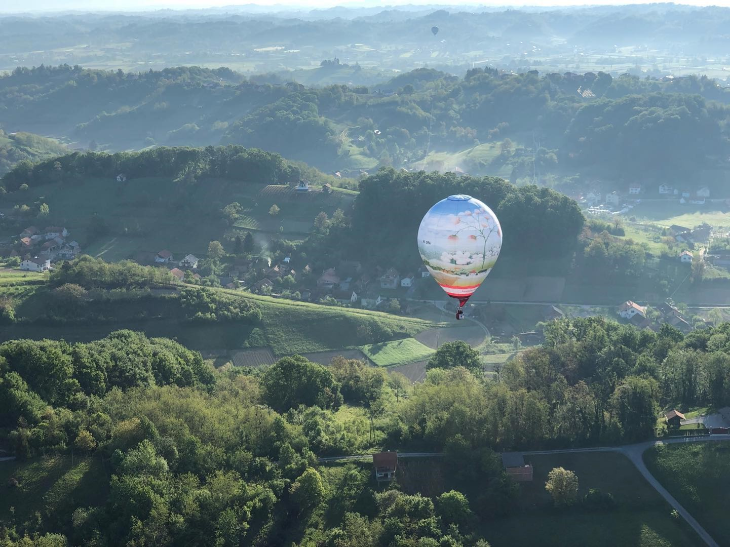 21.ballon flight over zagorje